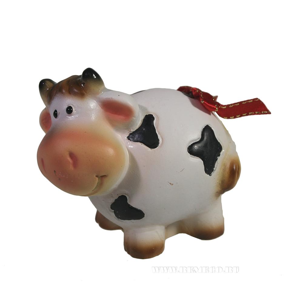 Фигура декоративная Корова Ася (пятнистая) L7W5H6,5 оптом