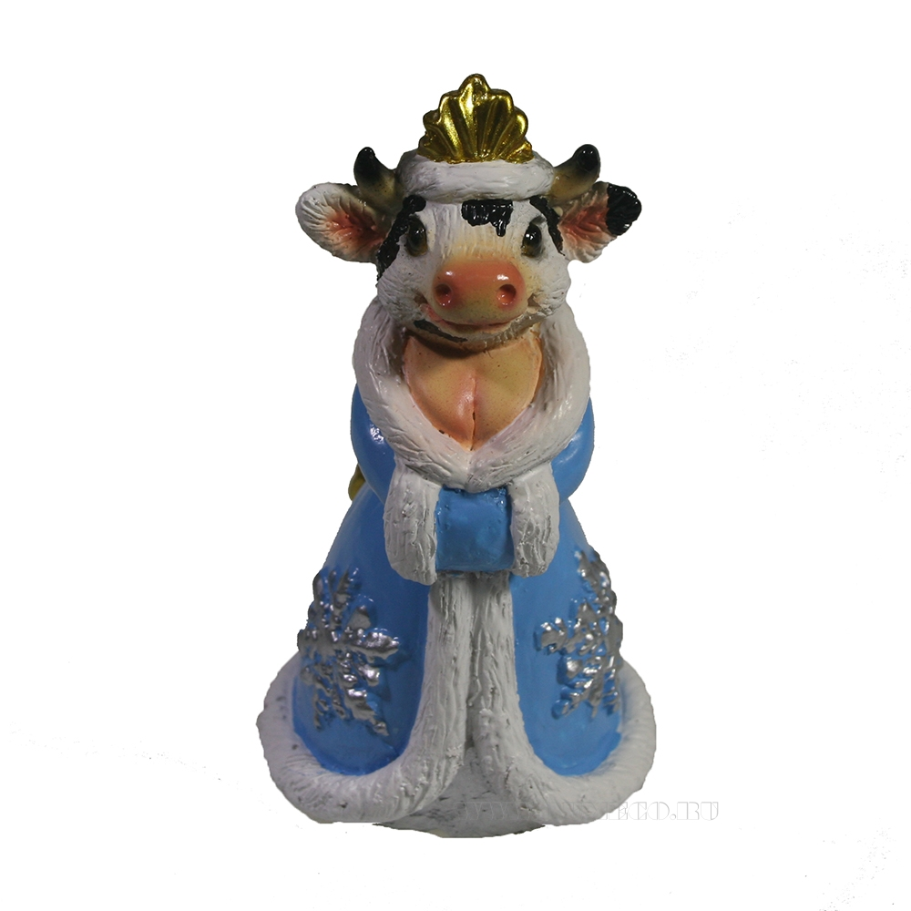 Фигура декоративная Снегурочка Декольте (голубой) L5W4,5H8,5 оптом