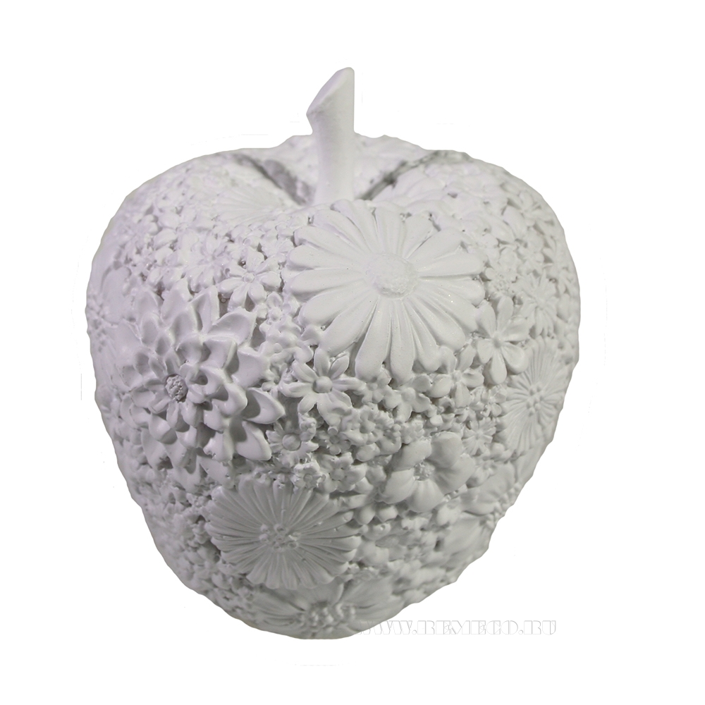 Фигура декоративная Яблоко (белый) L8W8H9 оптом