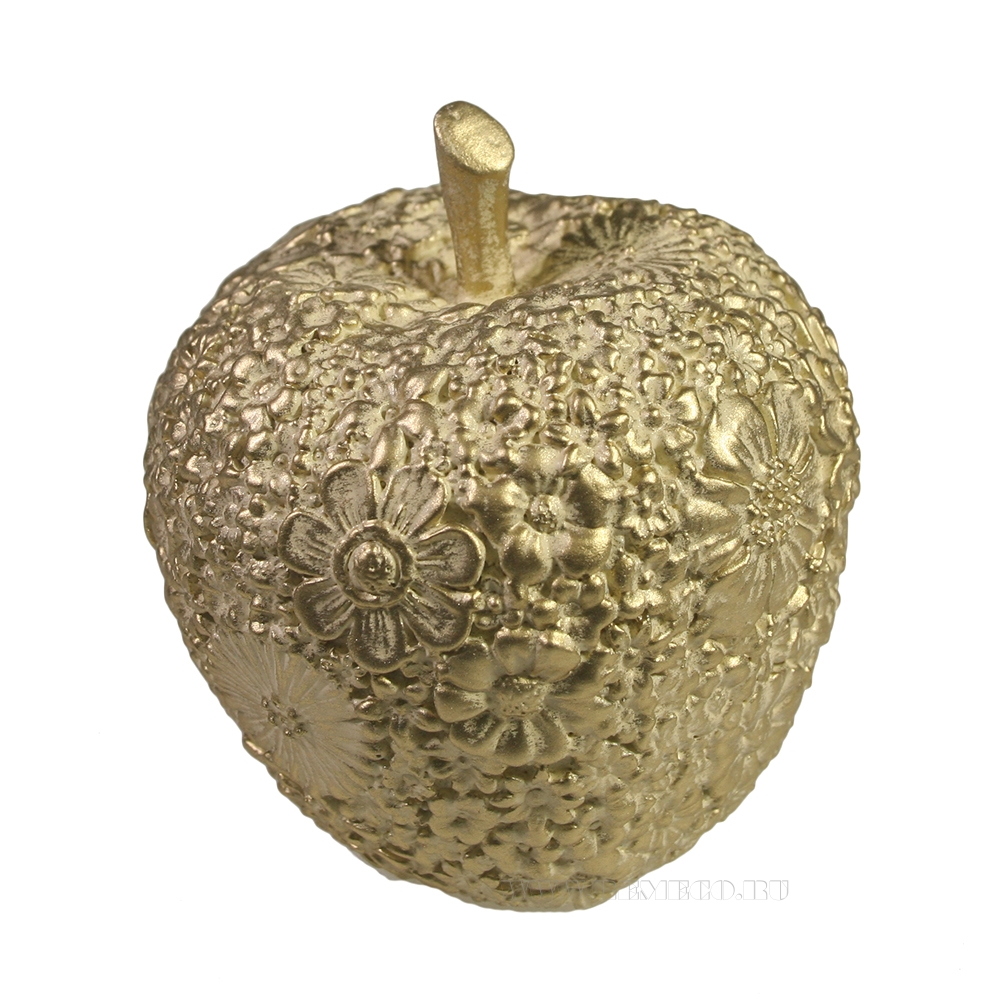 Фигура декоративная Яблоко (слоновая кость) L8W8H9 оптом