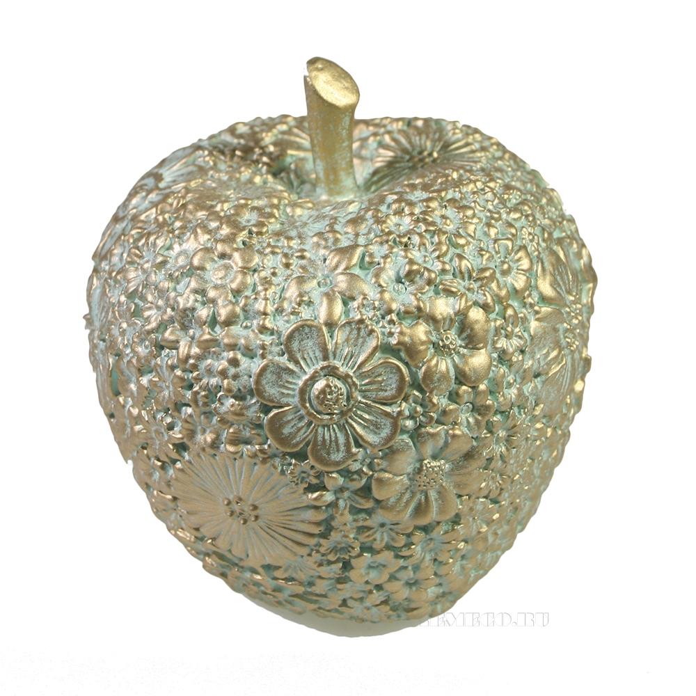 Фигура декоративная Яблоко (бирюзовый) L8W8H9 оптом