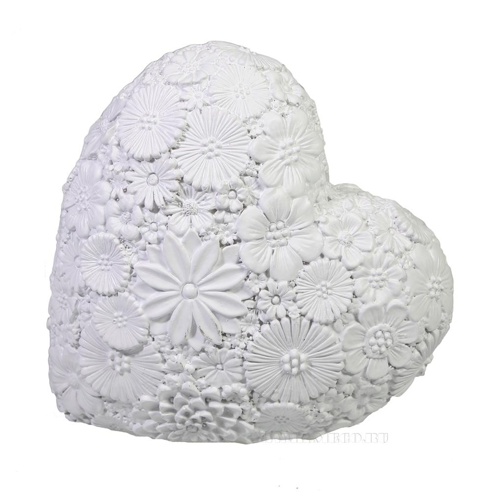 Фигура декоративная Сердце (белый) L7W14H14 оптом