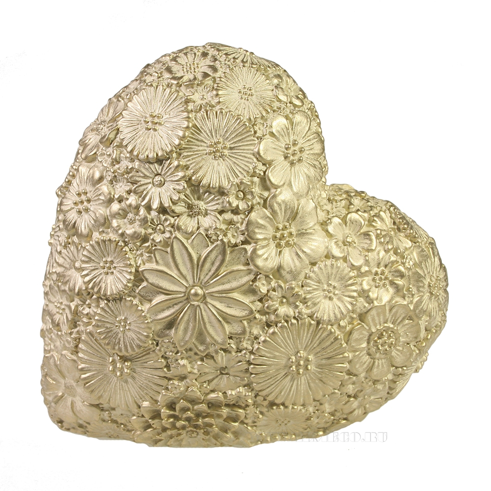 Фигура декоративная Сердце (слоновая кость) L7W14H14 оптом