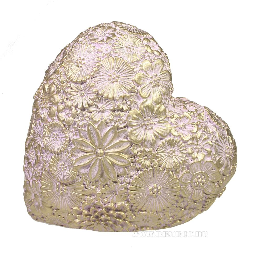 Фигура декоративная Сердце (розовый) L7W14H14 оптом