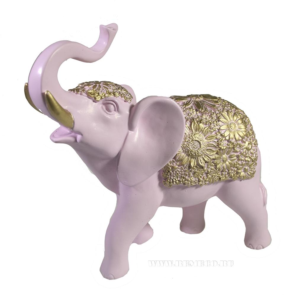 Фигура декоративная Слон (розовый) L19W7H20 оптом