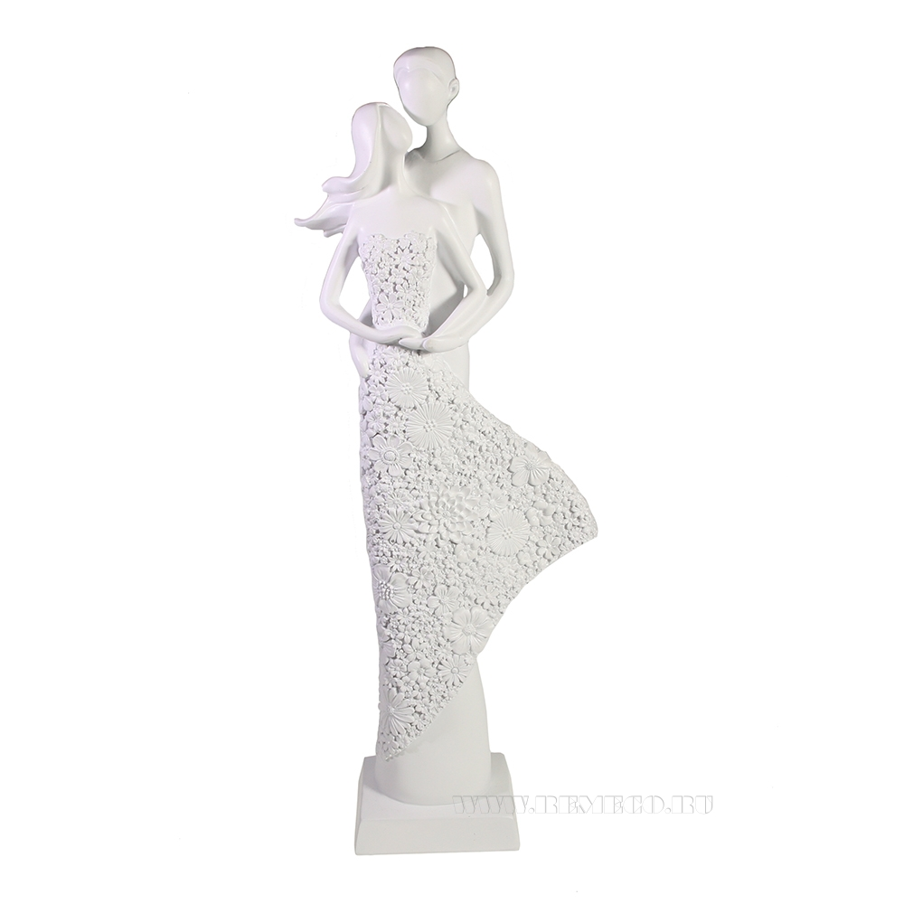 Фигура декоративная Пара (белый) L13,5W7H39 см оптом