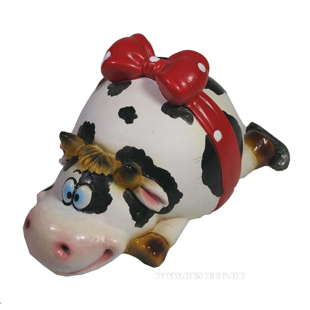 Копилка Корова на льду 13,5*6*9 см оптом