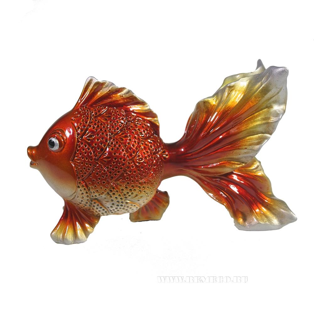 Фигура декоративная Золотая рыбка (акрил) L14W6,5H8,5 оптом