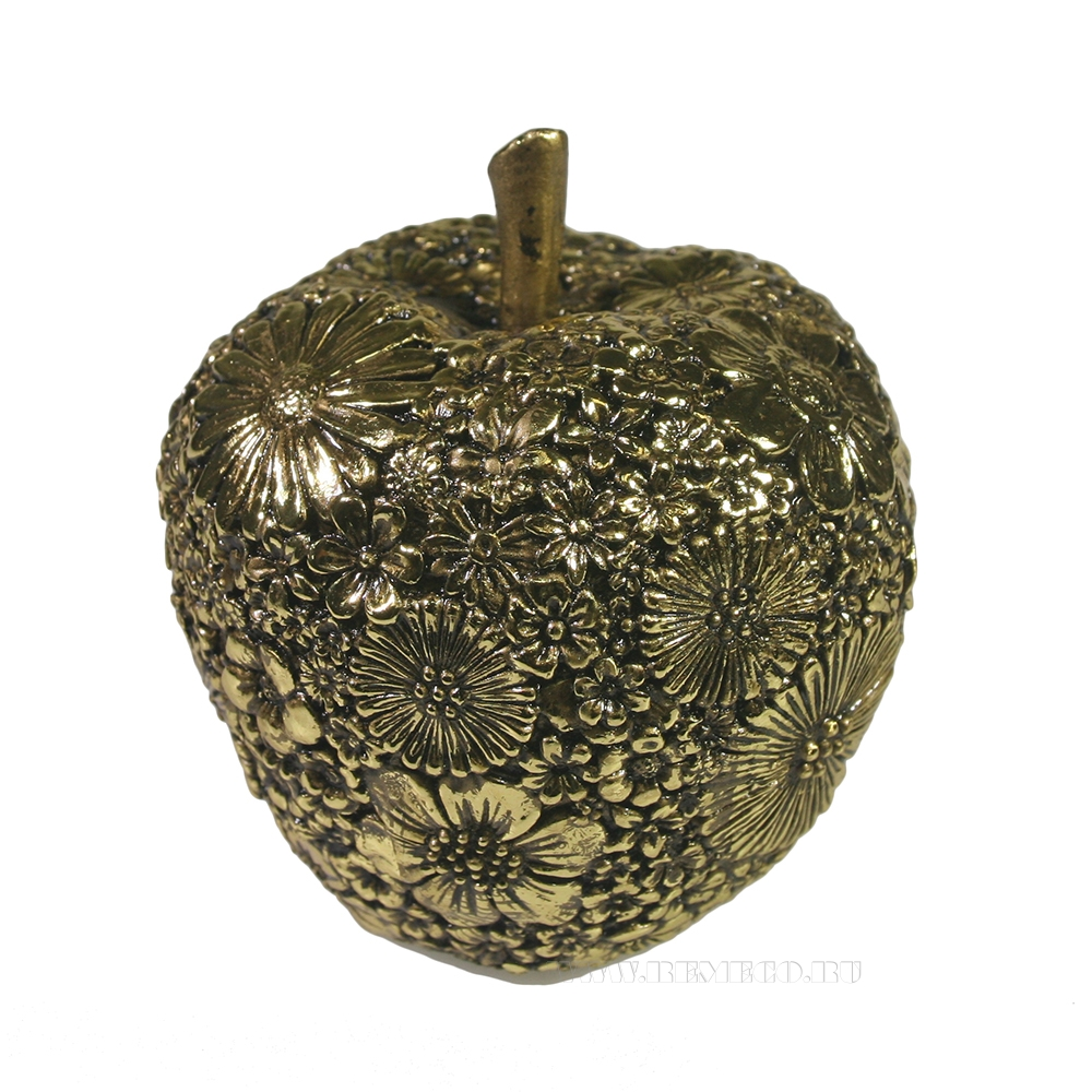 Фигура декоративная Яблоко (темное золото) L8W8H9 оптом