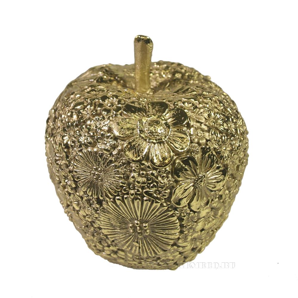 Фигура декоративная Яблоко (светлое золото) L8W8H9 оптом