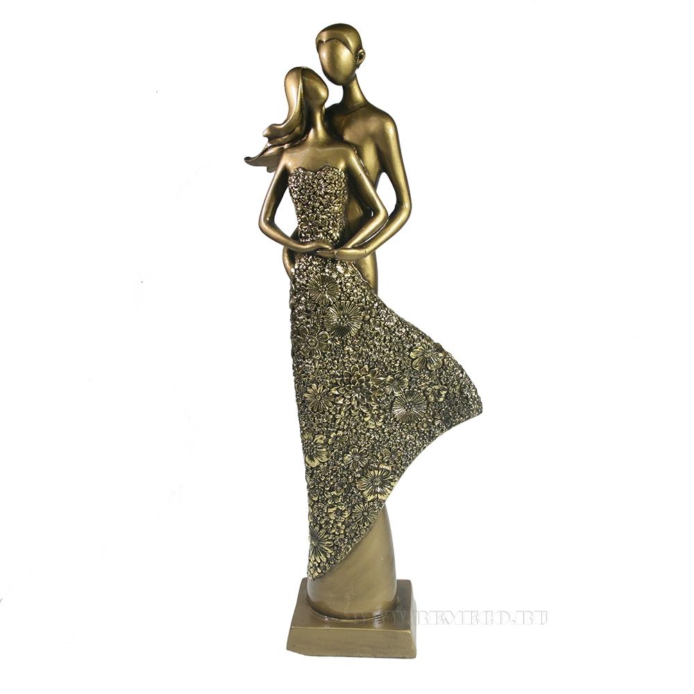 Фигура декоративная Пара (темное золото) L13,5W7H39 см оптом