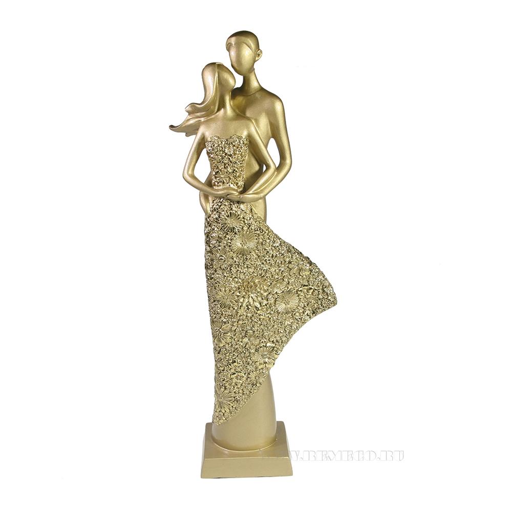 Фигура декоративная Пара (светлое золото) L13,5W7H39 см оптом
