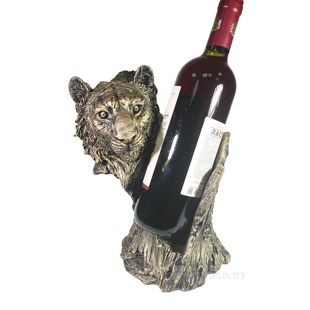 Подставка под бутылку Тигр (бронза) L15W21H24 оптом