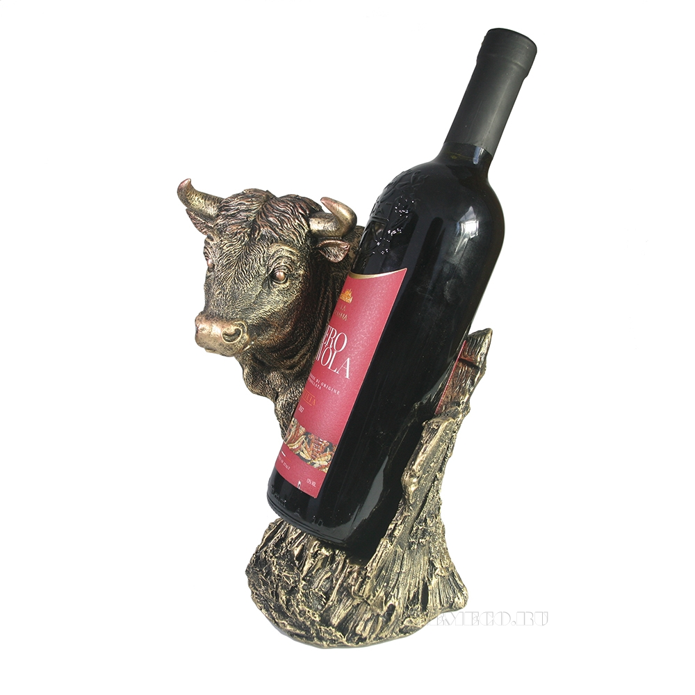 Подставка под бутылку Бык (бронза) L16W21H25 оптом