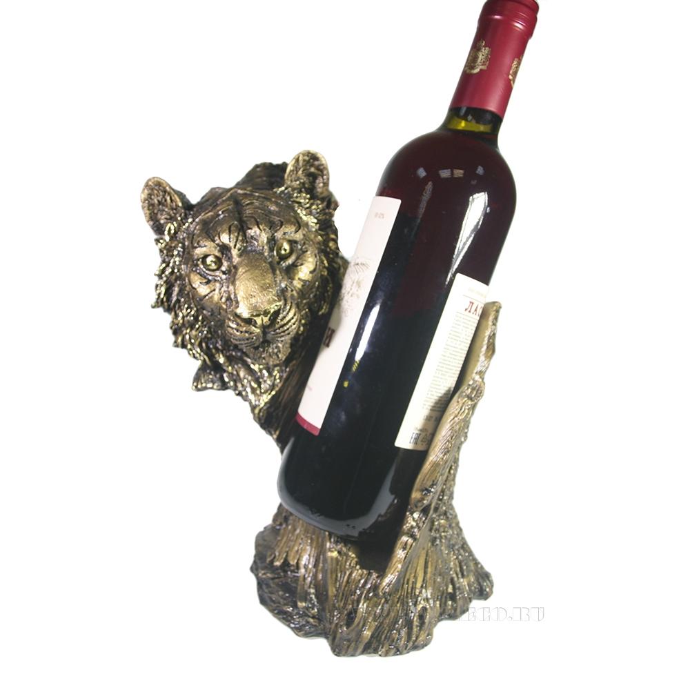 Подставка под бутылку Тигр (золото) L15W21H24 оптом