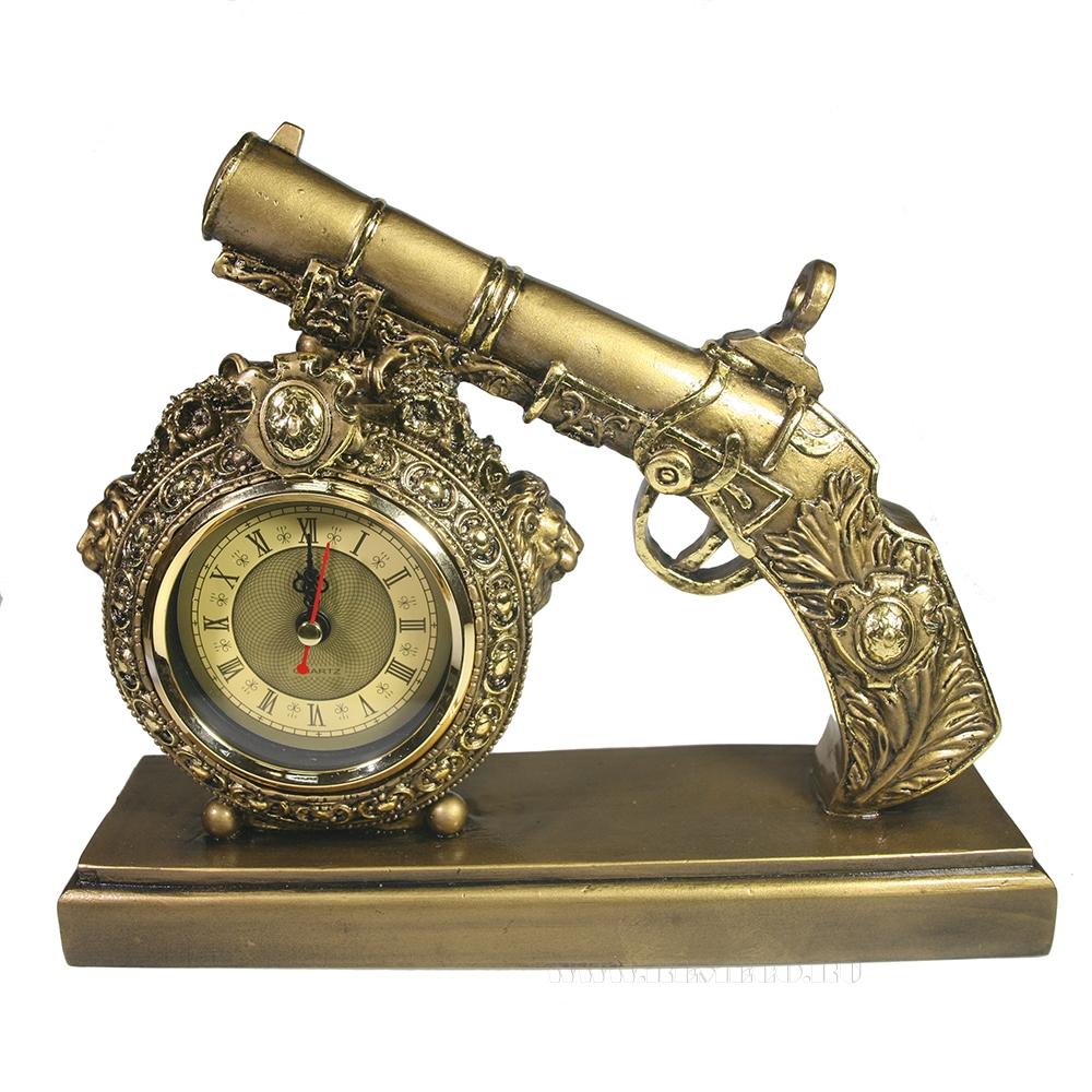 Композиция время Пистолет (золото) L25W7H21 оптом