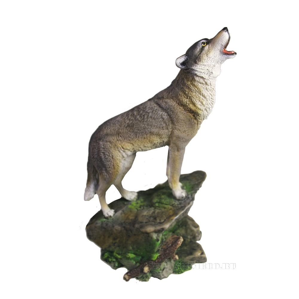 Фигура декоратиная Волк (акрил) L10W11H20 оптом