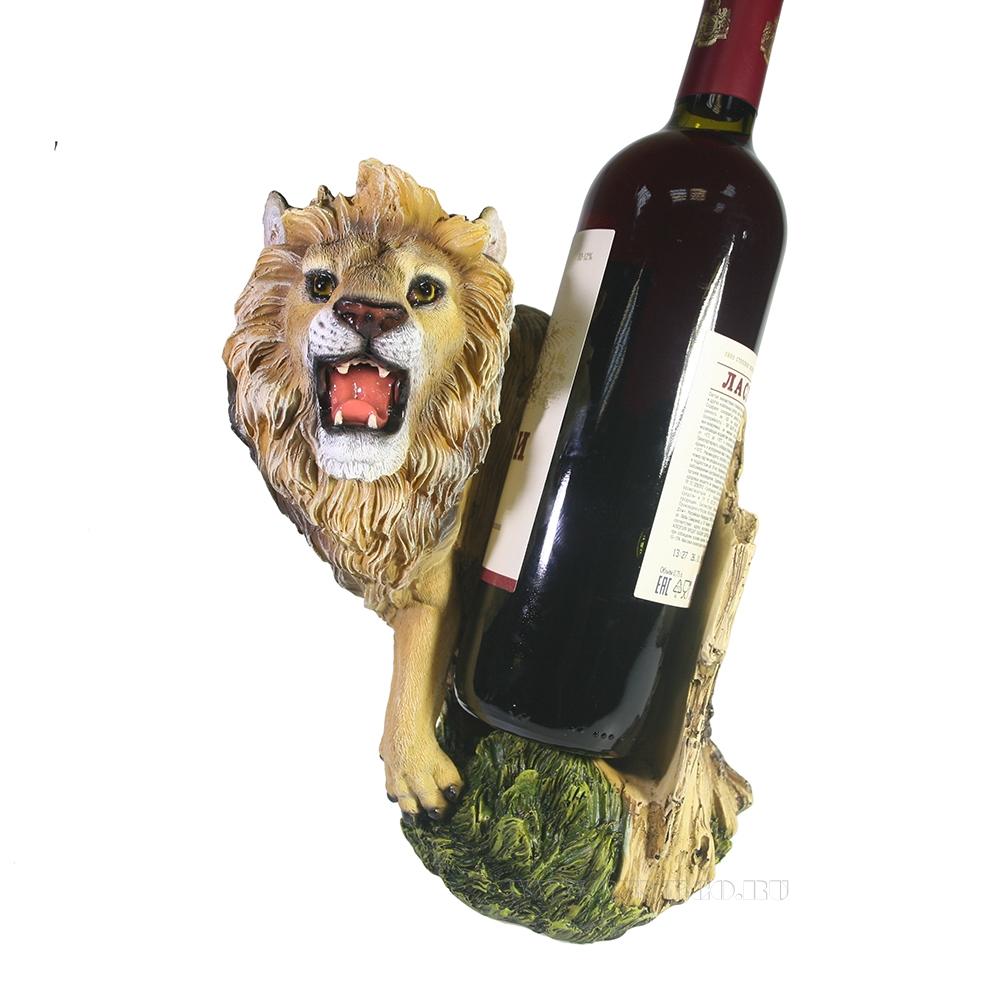 Подставка под бутылку Лев (акрил) L14W19H24 оптом