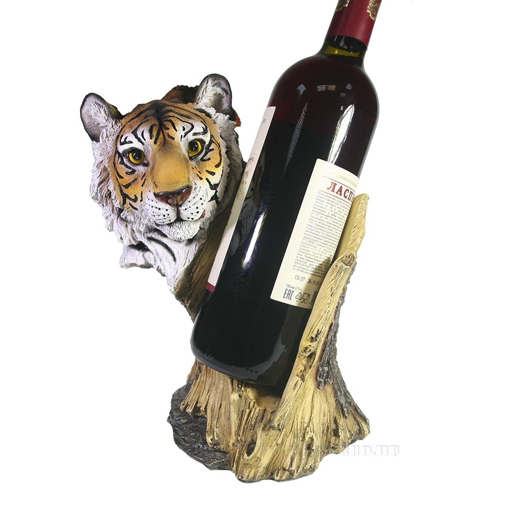Подставка под бутылку Тигр (акрил) L15W21H24 оптом