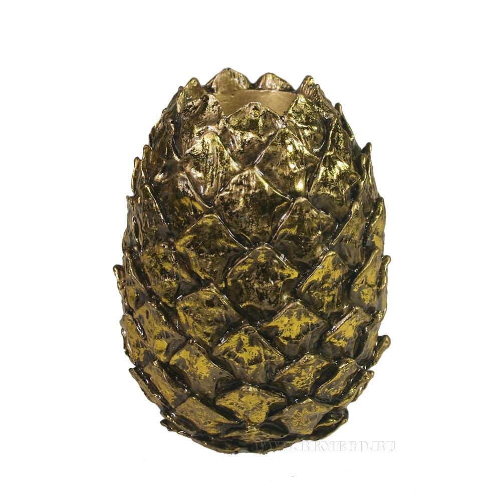 Изделие декоративное Кедровая шишка (золото) L10W10H14 оптом