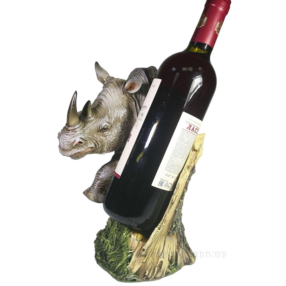 Подставка под бутылку Носорог (акрил) оптом