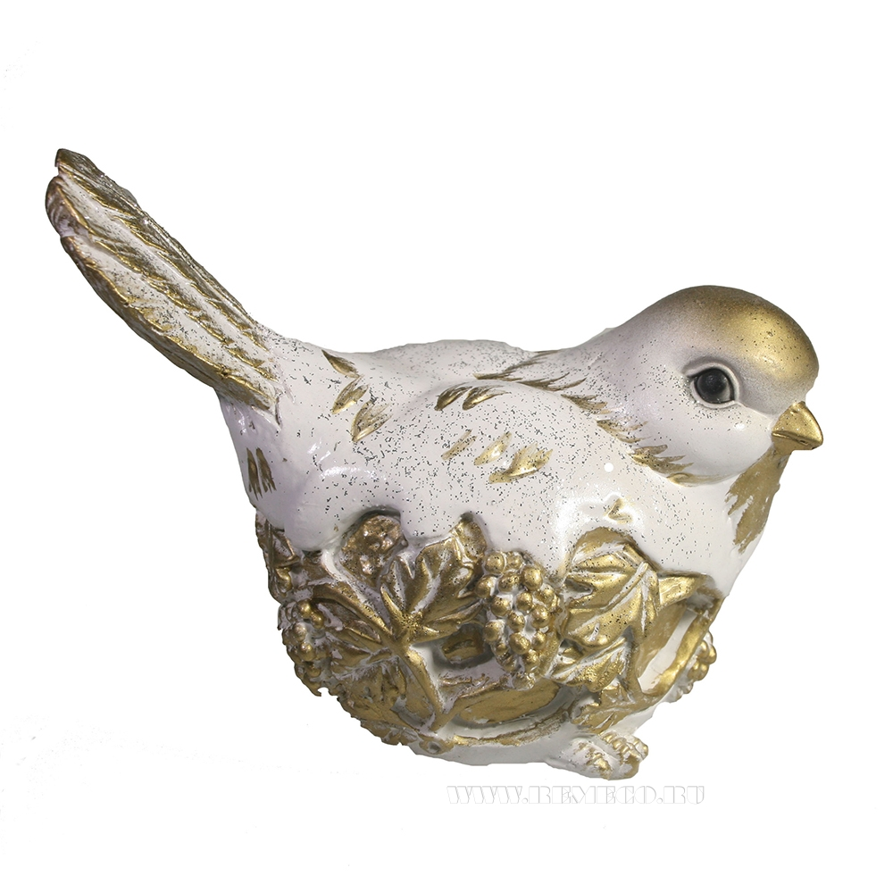 Фигура декоративная Птичка (золото) L13W8H11 оптом