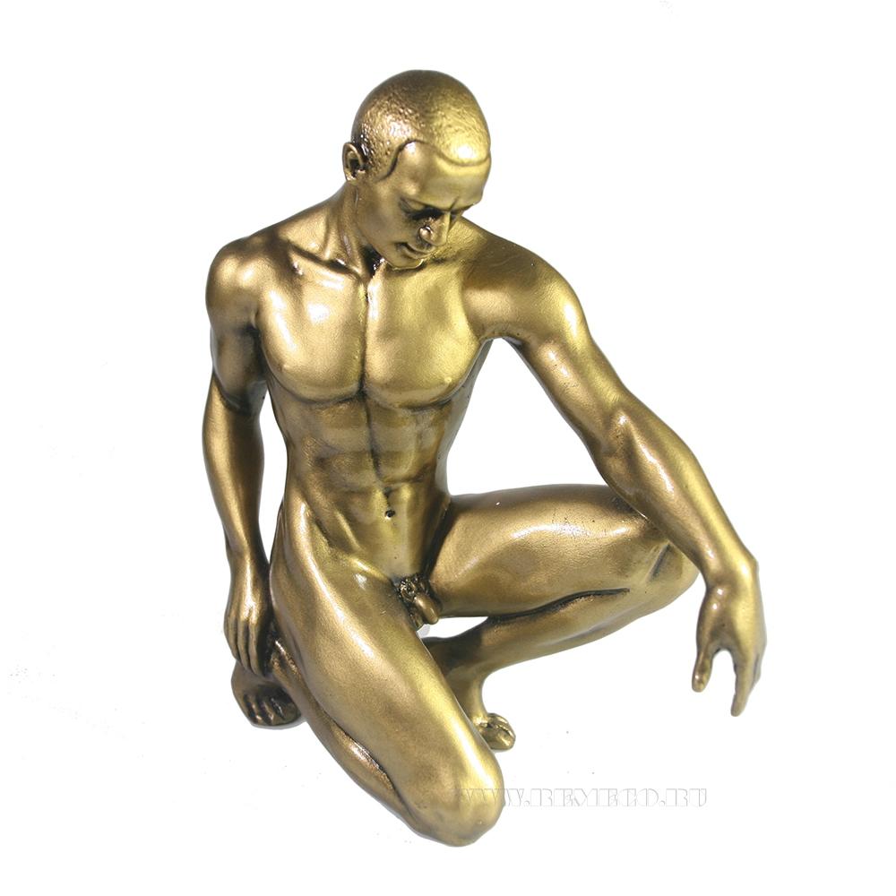 Фигура декоративная Атлет (золото) L14W5H15 оптом