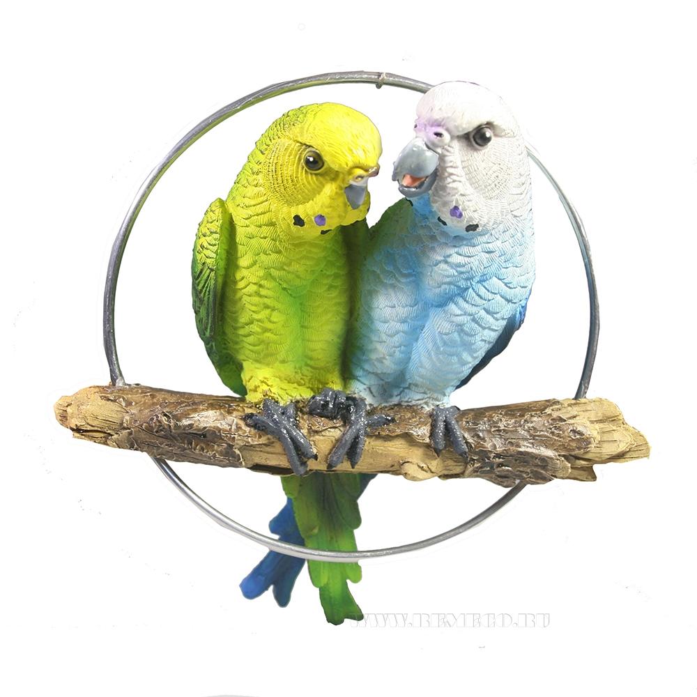 Фигура декоративная Пара попугаев L18,5W6,5H22 оптом