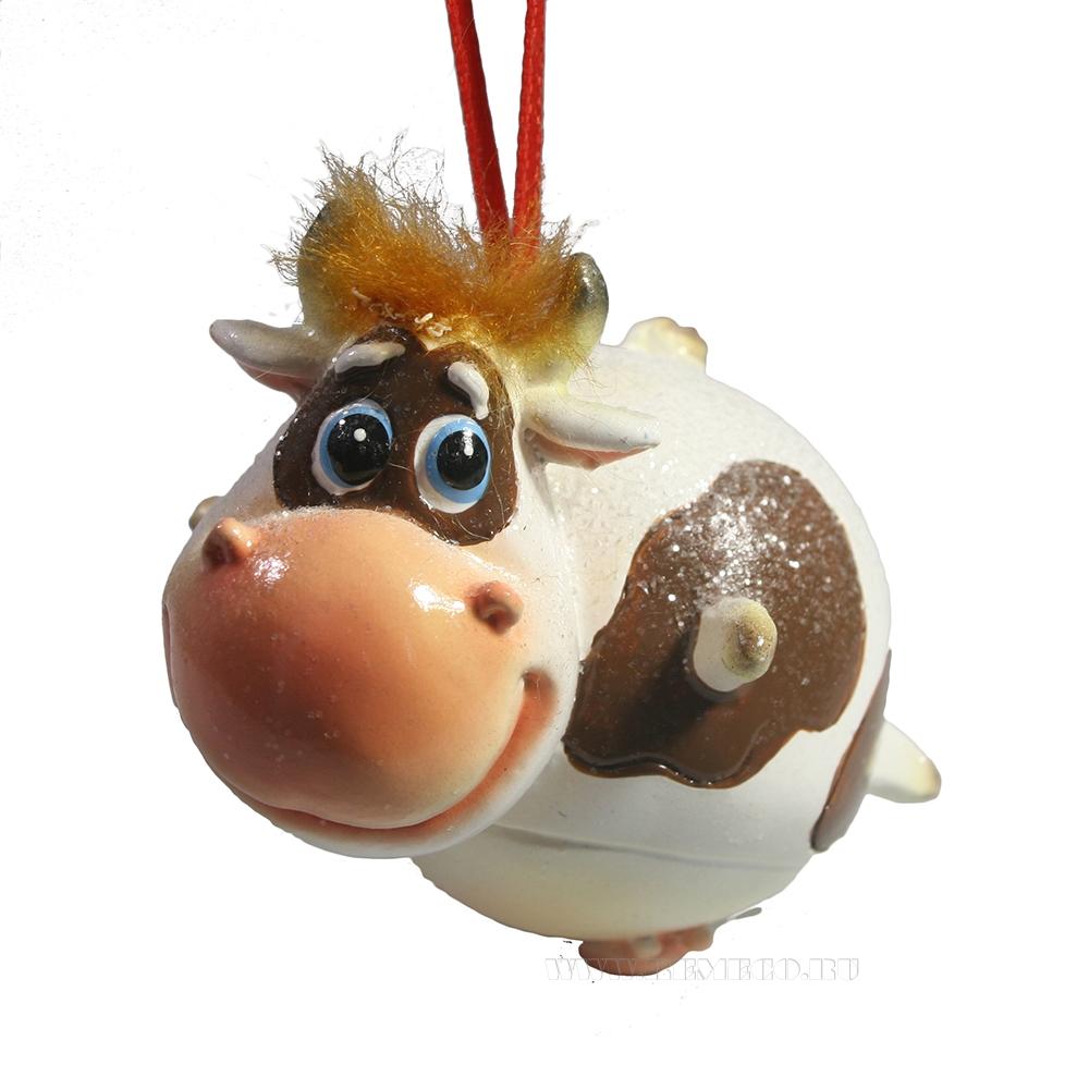 Подвеска Летящая коровка (коричневый))7*5,5*7см оптом