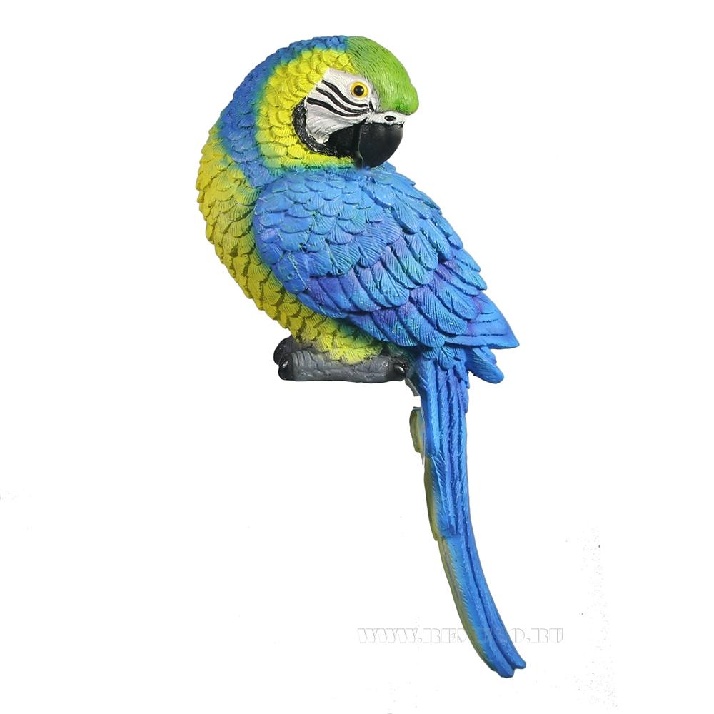 Фигура декоративная навесная Синий Ара оптом