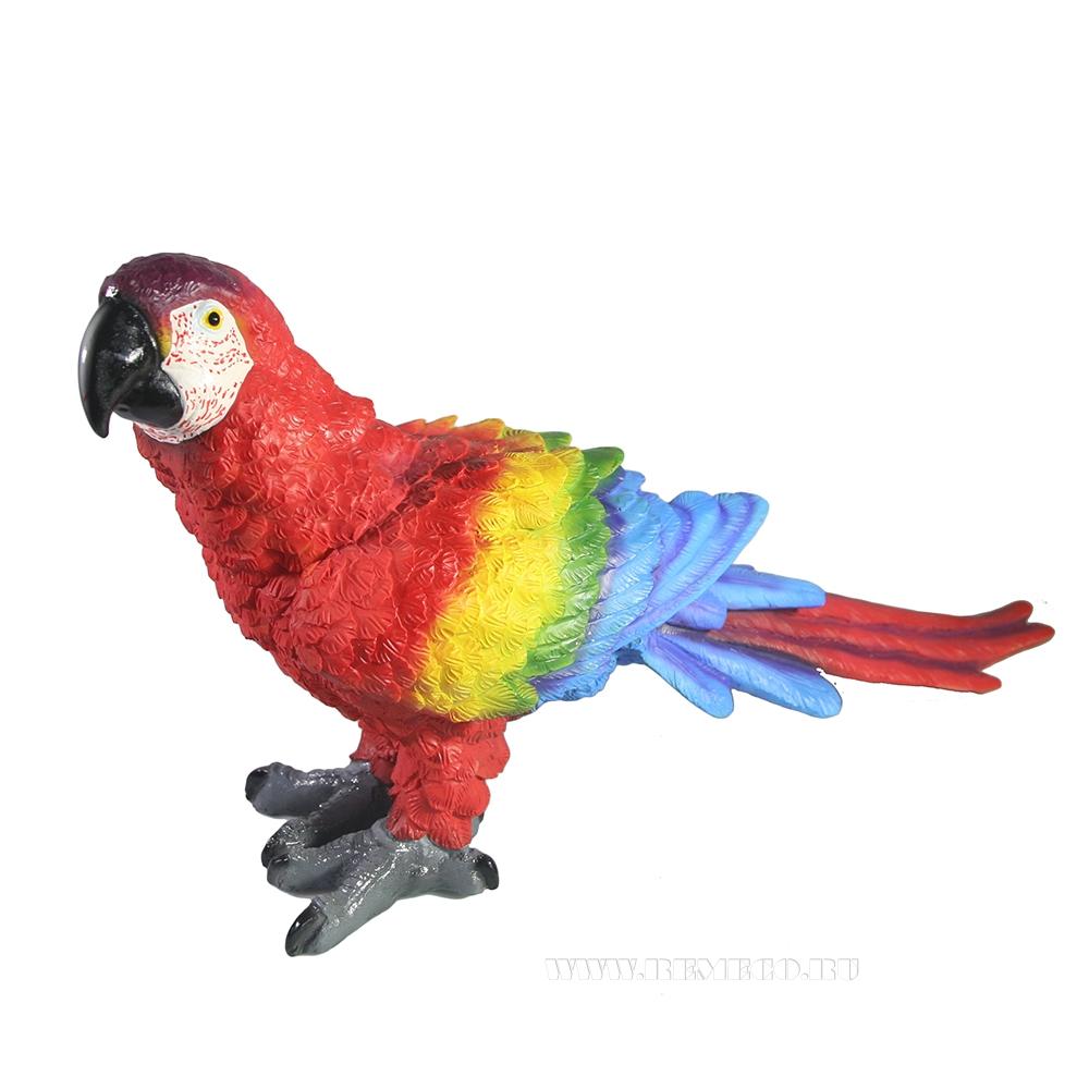 Фигура декоративная Попугай Ара Красный оптом