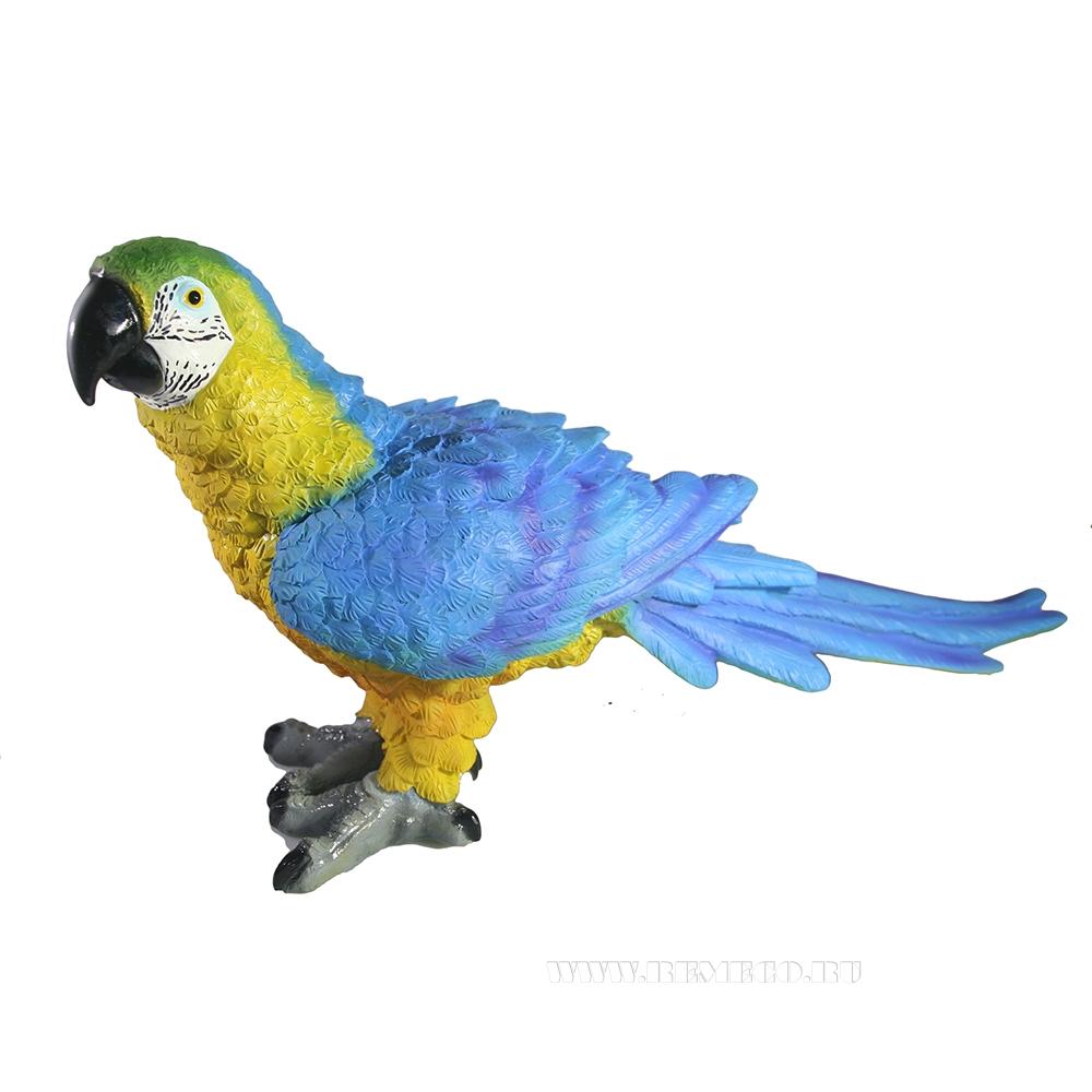 Фигура декоративная Попугай Ара Синий L39W12H22 оптом