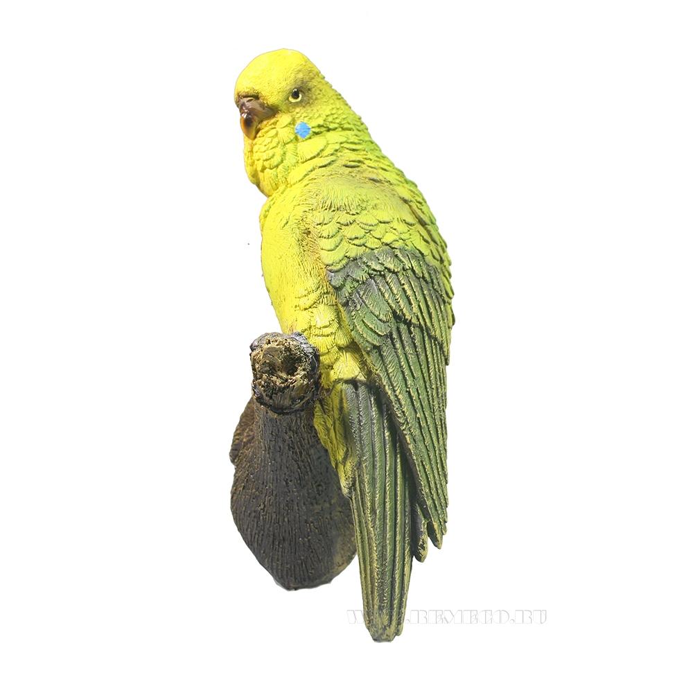 Фигура декоративная Попугай на ветке оптом