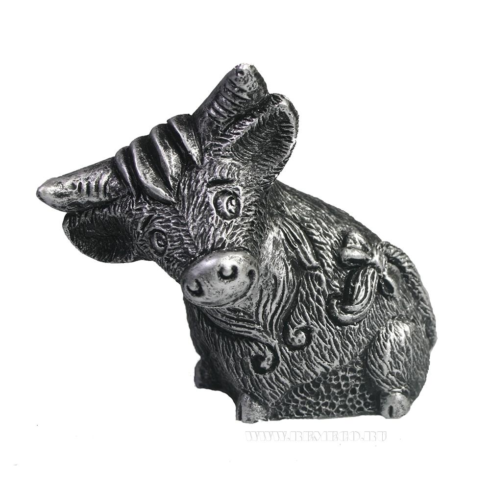 Фигура декоративная Берта (серебро) L10W6H8,5 оптом