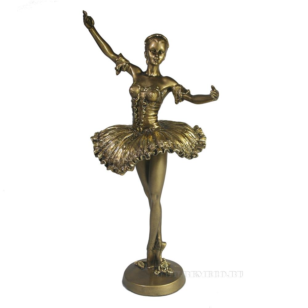 Фигура декоративная Балерина (золото) L10W13H28 оптом