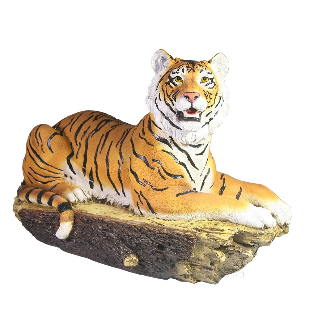 Фигура декоративная Тигр на бревне L40W18H27.5 оптом