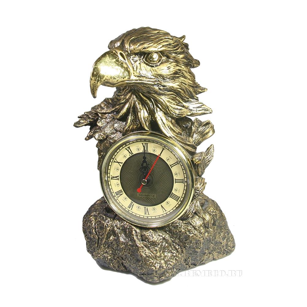 Композиция время Голова орла (золото) L22W15H29 оптом