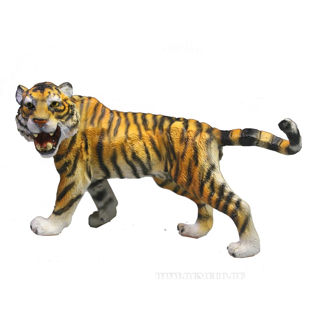 Фигура декоративная Рычащий тигр (рыжий) L11W5,5H7 оптом