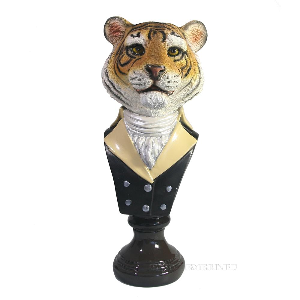 Фигура декоративная Бюст тигра (акрил) оптом