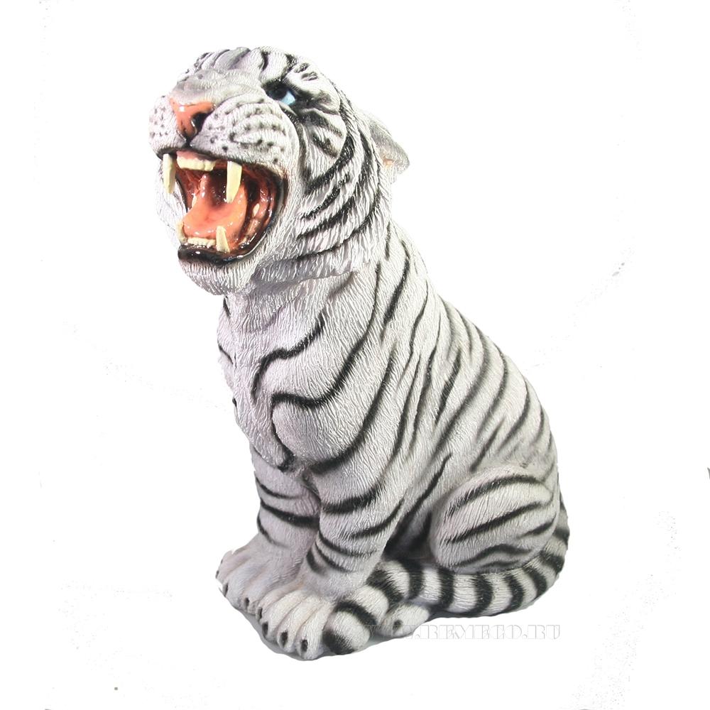 Копилка Тигр Амур (белый) H29 см оптом