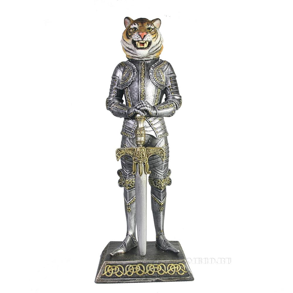 Фигура декоративная Тигр рыцарь (акрил) оптом