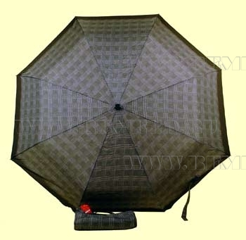 Зонт 23 цв.клетка, полный автомат, Зеленая клетка (мелкая) оптом