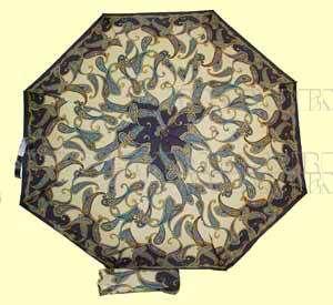Зонт 23 цв., полный автомат, Синие огурцы на бежевом оптом