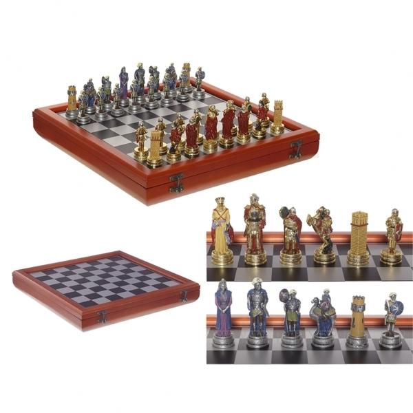 Настольная игра Шахматы, Христиане и Арабы с доской, 9 см оптом