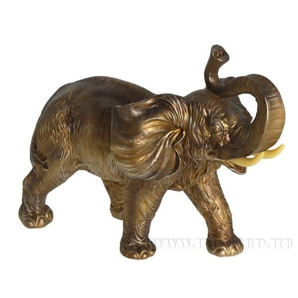 Фигурка декоративная Слон, L66 W34 H48 см оптом