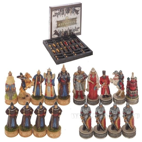 Шахматные фигуры Шахматы, Русские и татаро-монголы, 3х3х9 см оптом
