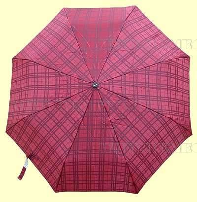 Зонт 23 цв., полный автомат, клетка красно-бордовая оптом
