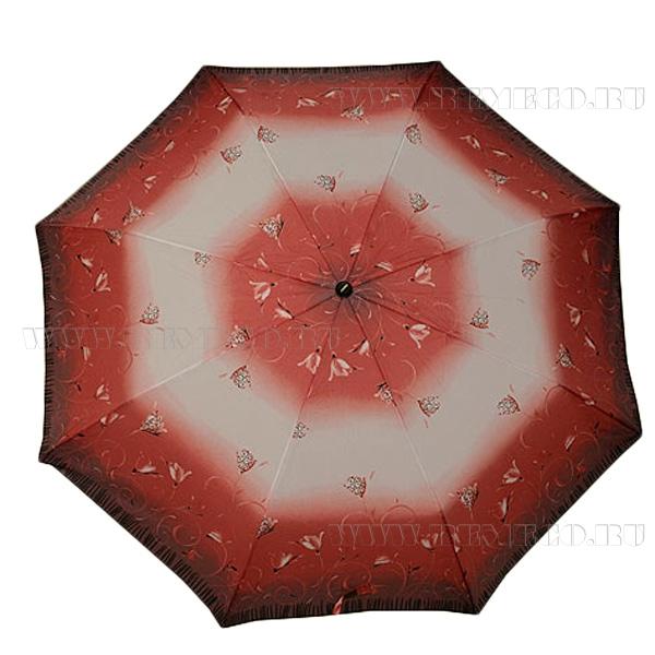 Зонт 23, полный автомат, (Цветы на розовом фоне) оптом