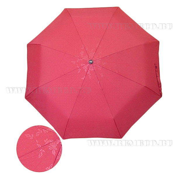 Зонт 23, полный автомат, (Темно-красный с глянцевым рисунком-3вида) оптом