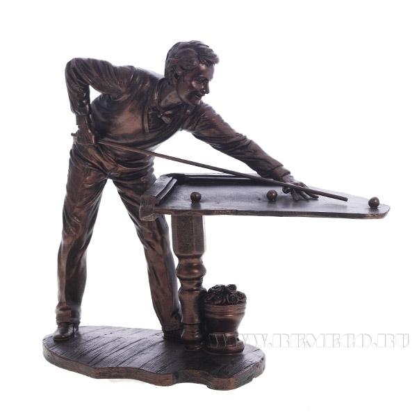 Фигурка декоративная Игра в бильярд, 30х15х25 см оптом